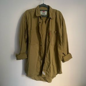 Levi's Olive Green Button Up Worker Shirt